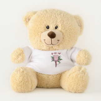 Ursinho De Pelúcia Noivo do Boutonniere da flor do rosa do rosa do