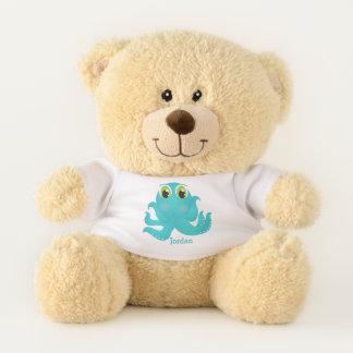 Ursinho De Pelúcia O polvo feliz bonito do miúdo
