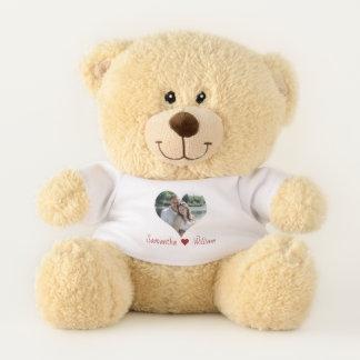 Ursinho De Pelúcia Quadro do coração do amor personalizado