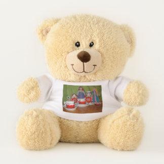 Ursinho De Pelúcia Tempo do chá da boneca do russo