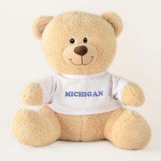 Ursinho De Pelúcia Urso de ursinho bonito do logotipo de Michigan