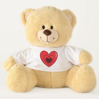 Ursinho De Pelúcia Urso de ursinho com coração na camisa