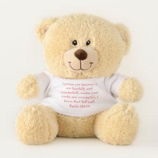 Ursinho De Pelúcia Urso de ursinho cor-de-rosa do salmo 139