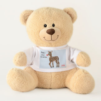 Ursinho De Pelúcia Urso de ursinho da rena do Natal do bebê primeiro