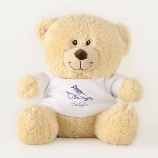 Ursinho De Pelúcia Urso de ursinho de Jay azul