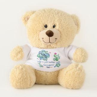 Ursinho De Pelúcia Urso de ursinho do amante do Succulent