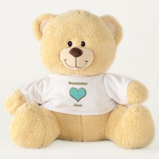 Ursinho De Pelúcia Urso de ursinho do olhar de dezembro Birthstone