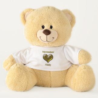 Ursinho De Pelúcia Urso de ursinho do olhar de novembro Birthstone