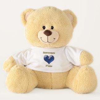 Ursinho De Pelúcia Urso de ursinho do olhar de setembro Birthstone