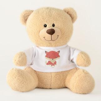 Ursinho De Pelúcia Urso de ursinho enchido t-shirt do Fox do bebê