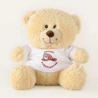 Ursinho De Pelúcia Urso de ursinho futuro do sapador-bombeiro do