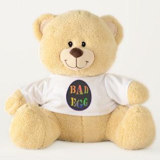 Ursinho De Pelúcia Urso de ursinho mau do t-shirt da indicação do ovo