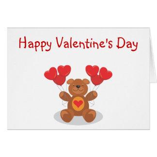 Ursinho de pelúcia Valentine's Day Card Cartão Comemorativo
