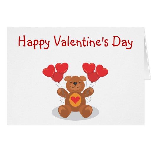 Ursinho de pelúcia Valentine's Day Card Cartão