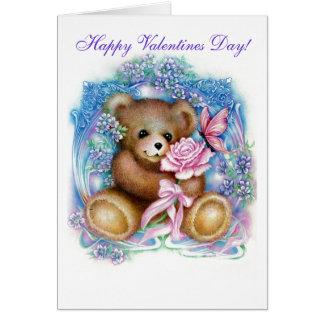 ursinho, dia dos namorados feliz! cartão comemorativo