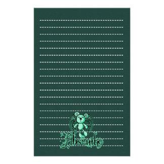 URSINHO NOCIVO - o absinto a fada verde Papel Personalizados