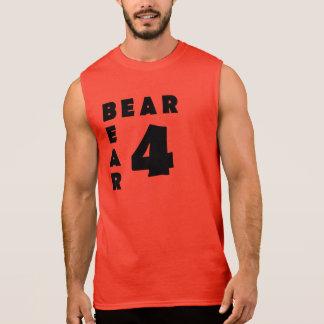 Urso alegre do texto preto do urso do urso 4 regata