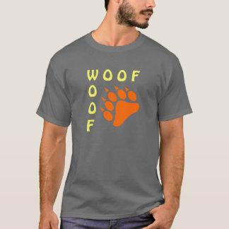 Urso alegre do Woof azul do dobro da pata de urso Camiseta
