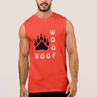 Urso alegre do Woof do dobro da pata de urso preto Regata