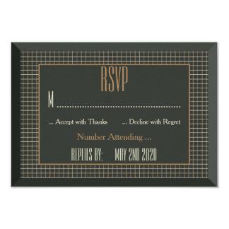 Urso alegre quadro elegante que Wedding RSVP Convites Personalizado