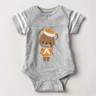 Urso animal do marinheiro do bebê bonito body para bebê