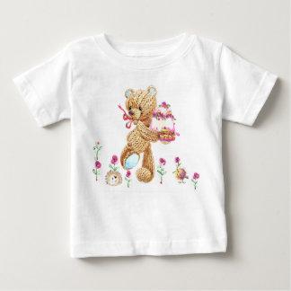 Urso Aquarelado Camiseta Para Bebê