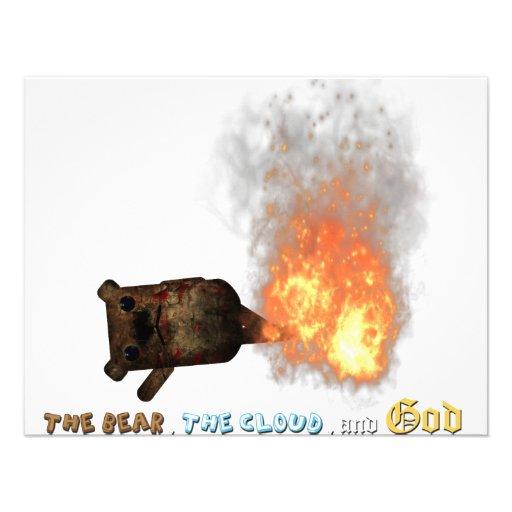 Urso ardente! convite