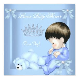 Urso azul do brinquedo do menino pequeno do convites