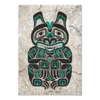 Urso azul do espírito do Haida da cerceta rachada Convites