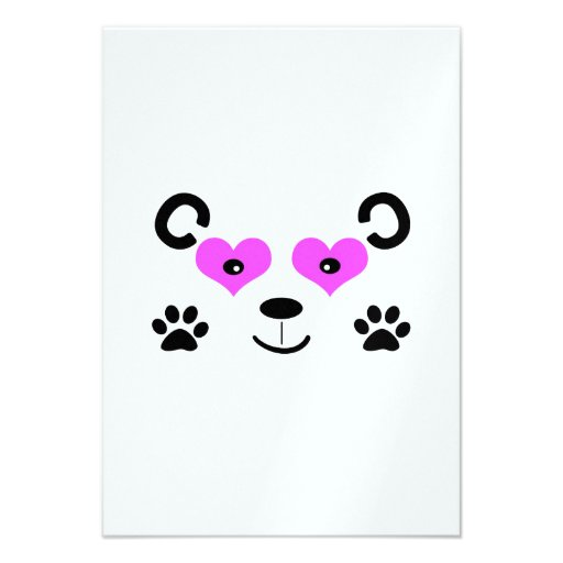 Urso bonito convites personalizados