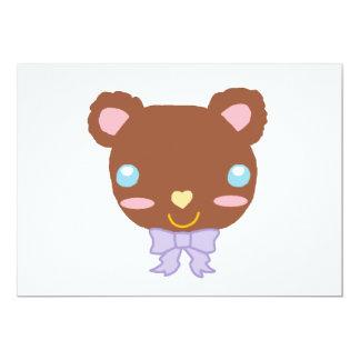 Urso bonito da baga convite 12.7 x 17.78cm