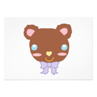 Urso bonito da baga convites