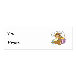 Urso bonito do coelhinho da Páscoa Cartoes De Visitas