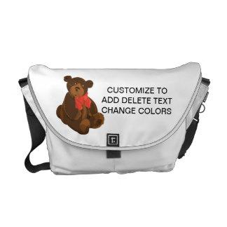 Urso bonito dos desenhos animados bolsas mensageiro