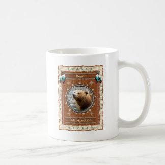 Urso - caneca de café clássica da Introspecção