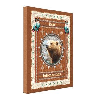 Urso - canvas esticadas Introspecção