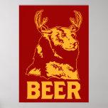 Urso + Cervos = cerveja Poster