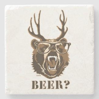 Urso, cervos ou cerveja porta copos de pedra