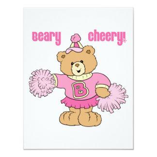 Urso Cheerleading animador de Beary Convite Personalizado