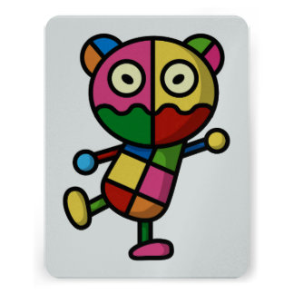 urso colorido