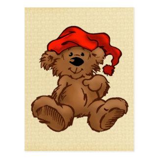 Urso com chapéu cartão postal