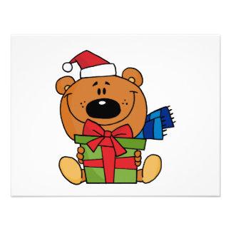Urso com o camiseta e os presentes do feriado do p convite