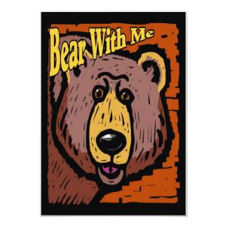 Urso comigo convites