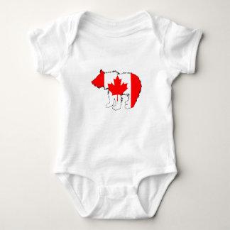 Urso Cub de Canadá Body Para Bebê