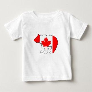 Urso Cub de Canadá Camiseta Para Bebê