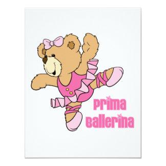 Urso da bailarina de Prima Convites