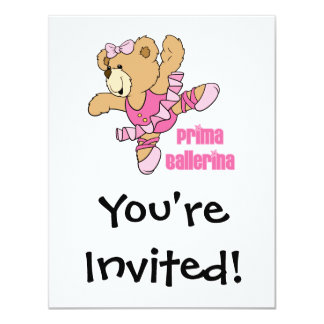 Urso da bailarina de Prima Convites Personalizados