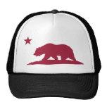 Urso da república de Califórnia - vermelho Boné
