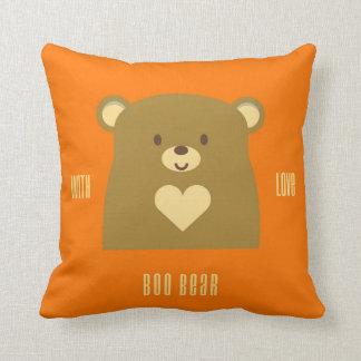 Urso da vaia com amor almofada