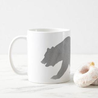 Urso de Alaska da caneca de café da aguarela do